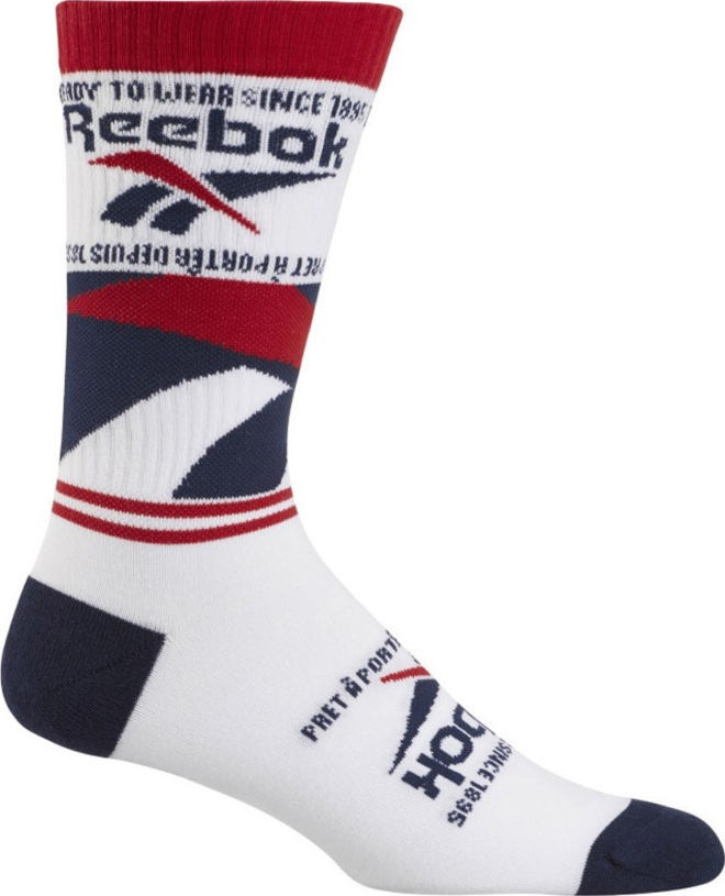 Reebok Classics GRAPHIC VECTOR CREW SOCKS ED1299 Λευκό