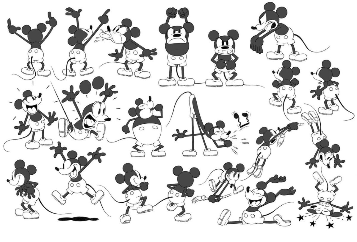 Model sheets του Get a Horse! της Disney