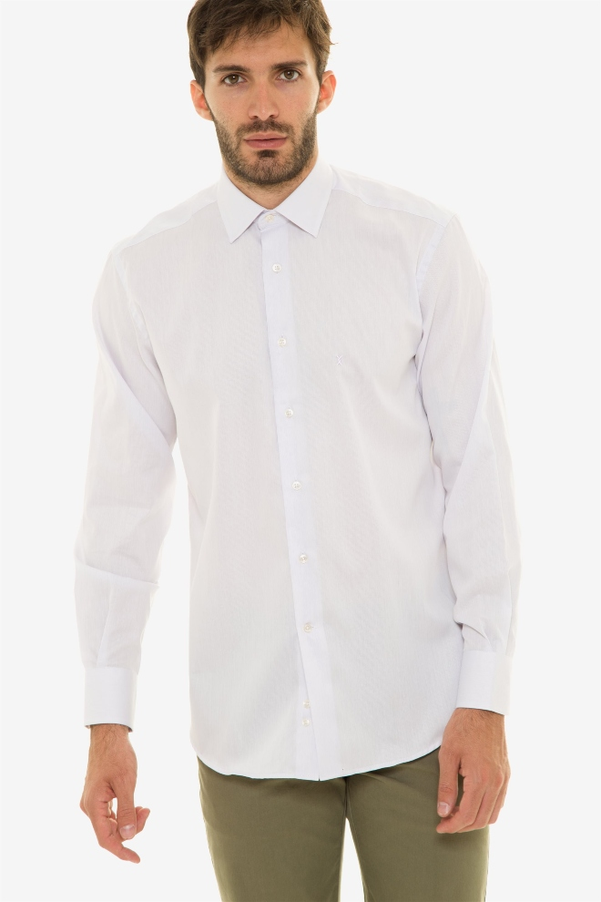 Aνδρικό πουκάμισο μονόχρωμο The Bostonians