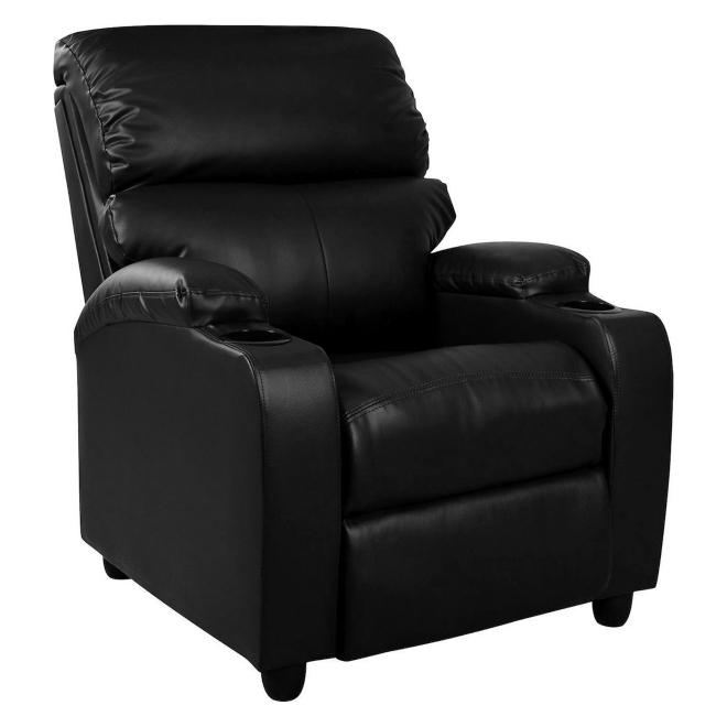 Πολυθρόνα Ανακλινόμενη Cheer Μαύρο Pu 72x89x106cm