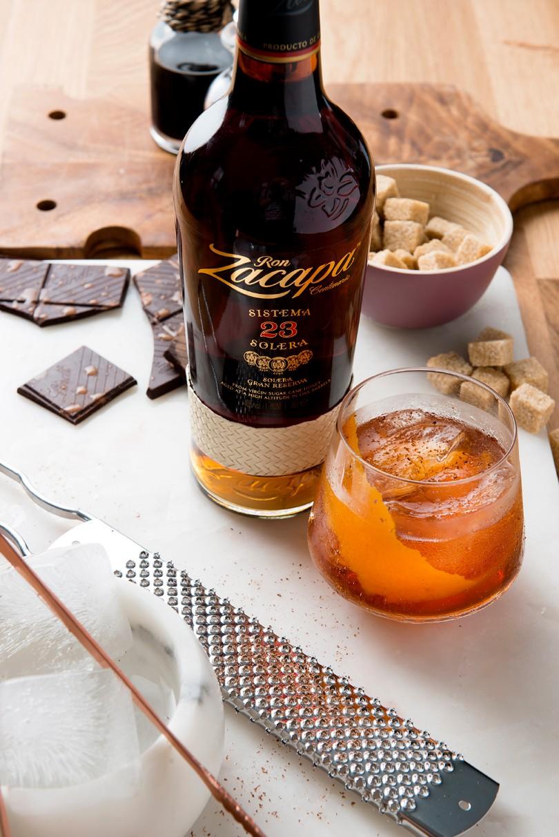 Old Fashioned με ρούμι Zacapa Solera 23
