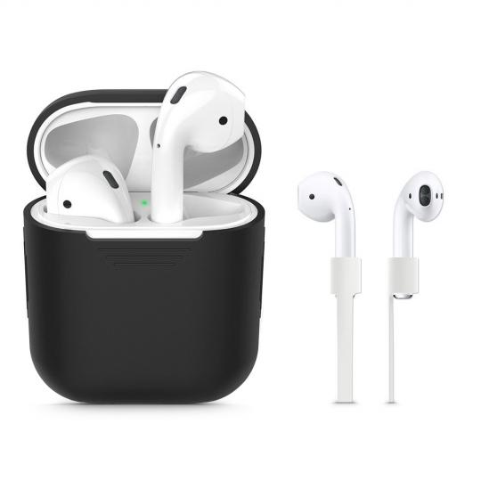 Θήκη Σιλικόνης Tech-protect Iconset Apple Airpods Μαύρο