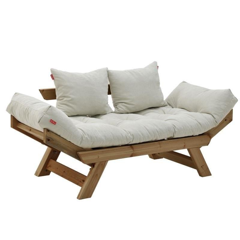 Καναπές διθέσιος Ξύλινος-Υφασμάτινος inart