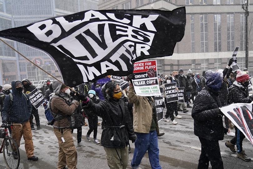 Πορεία για το Black Lives Matter.