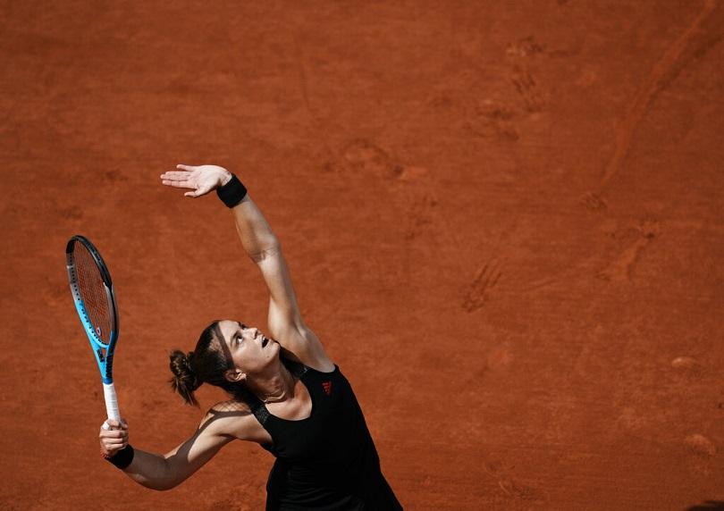 Η Σάκκαρη στον ημιτελικό του Ρολάν Γκαρός.