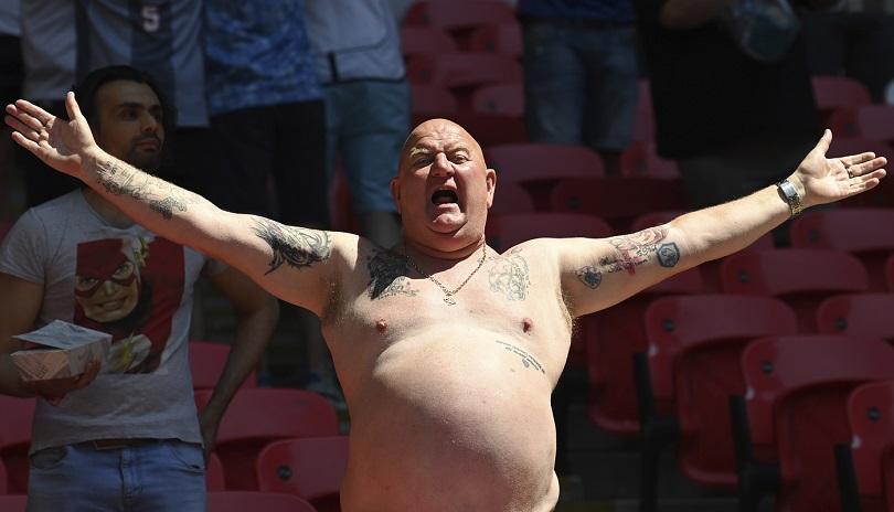Οπαδός της Αγγλίας στο Euro 2020.