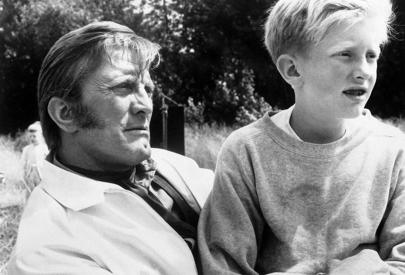 O Κirk Douglas με τον γιο του Peter.