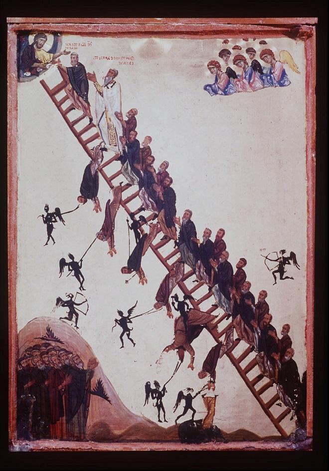 αγιογραφία βυζαντιο εικόνα θεός παράδεισος σκάλα