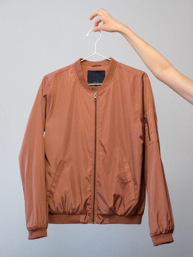 Το νάιλον bomber jacket