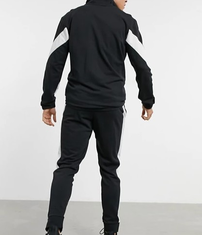 adidas Training tracksuit in black and white