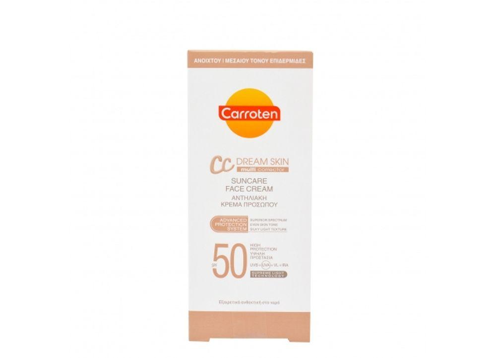 Αντηλιακή Κρέμα Προσώπου Carroten Spf 50 CC 50ml
