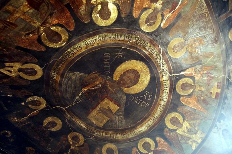 βυζαντιο εκκλησια εικονα τοιχογραφία χριστός