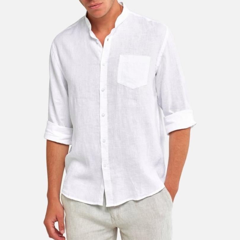 Μακρυμάνικο λινό πουκάμισο