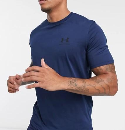 Under Armour logo t-shirt in navy