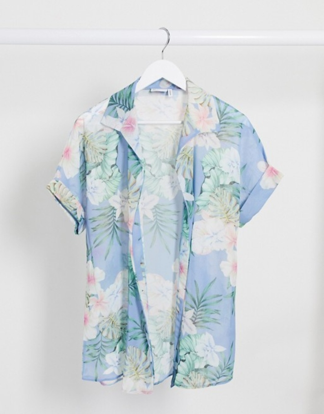 ASOS DESIGN oversized beach shirt