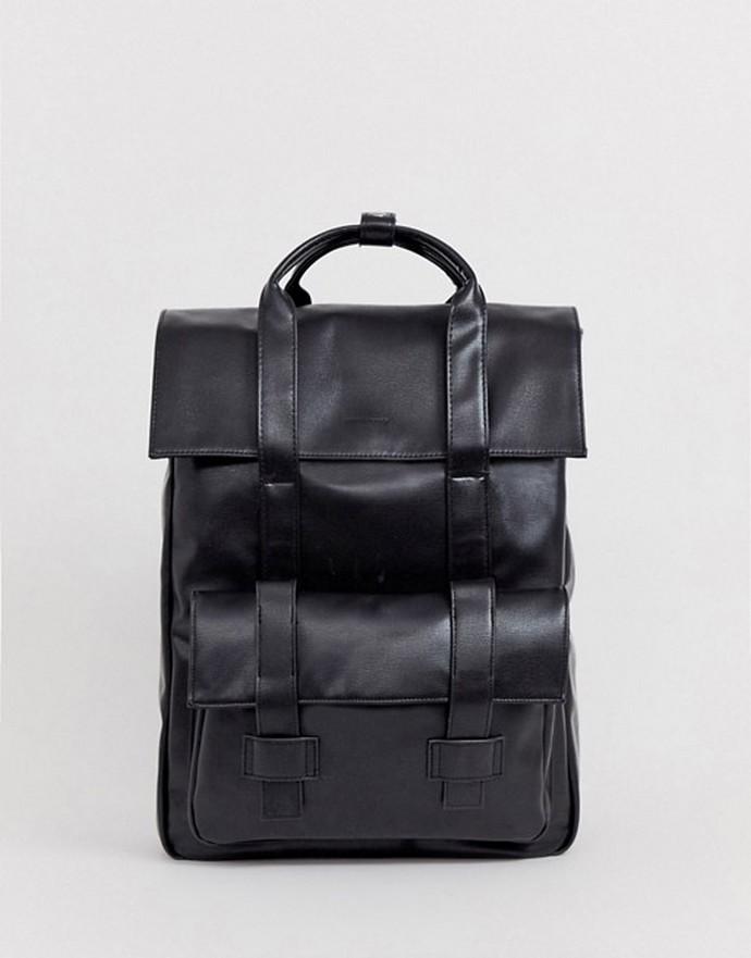 Δερμάτινο backpack με διπλά λουριά