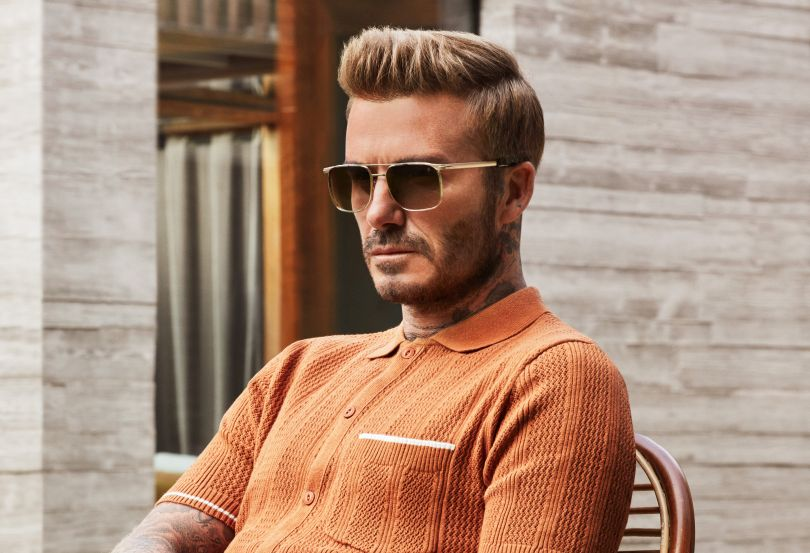 Τα γυαλιά του Beckham με τον μεταλλικό σκελετό