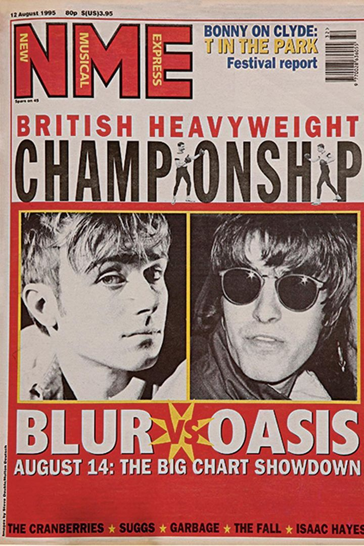 blur vs. oasis nme cover