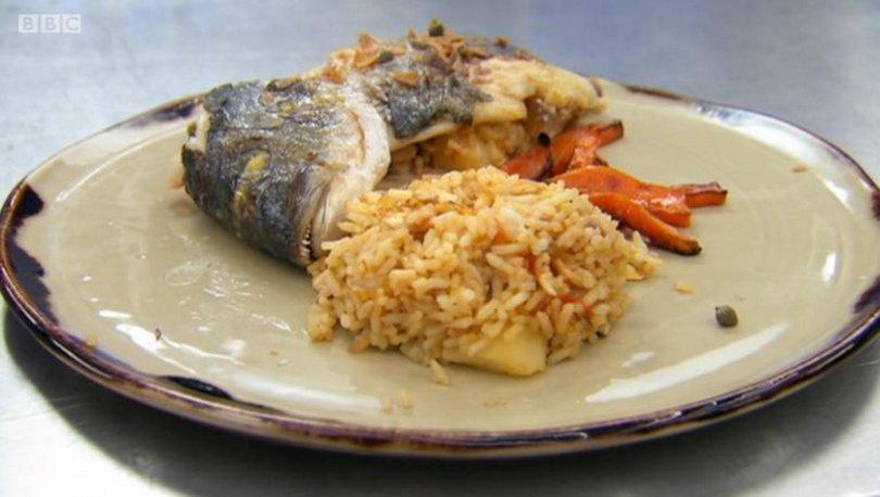 ψάρι με ροδάκινο στο celebrity masterchef