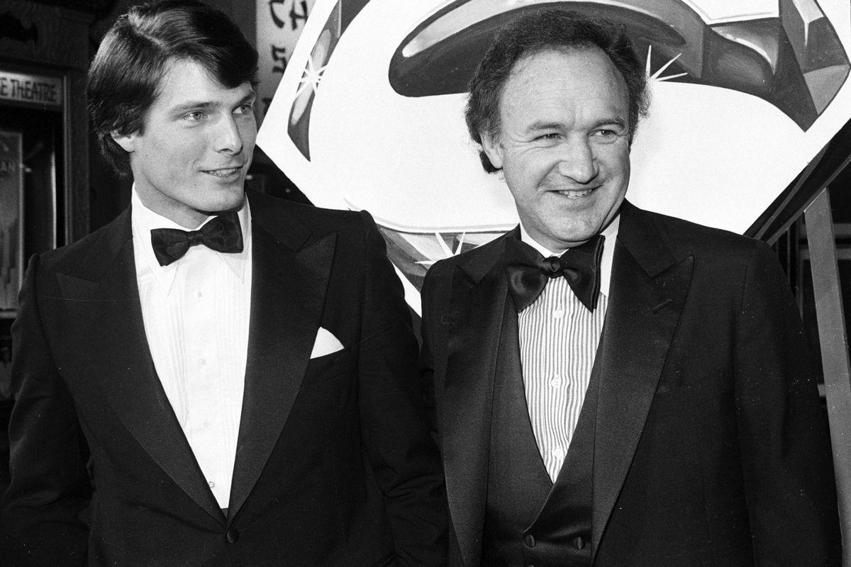 Ο Christopher Reeve και ο Gene Hackman στην πρεμιέρα του Superman