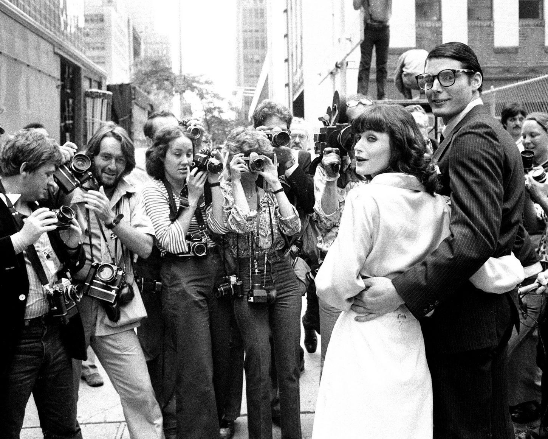 Ο Christopher Reeve και η Margot Kidder στα γυρίσματα του Superman