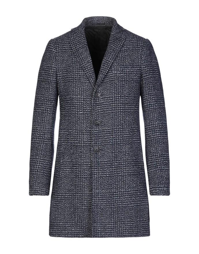 Μάλλινο καρό παλτό