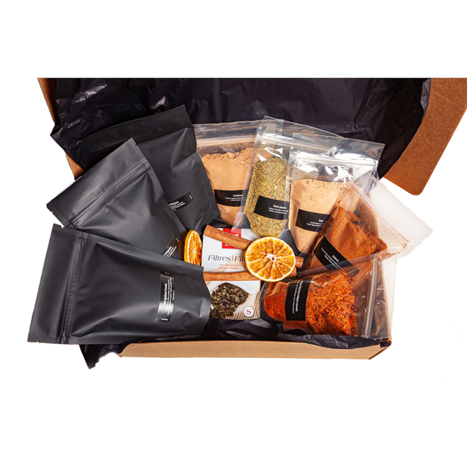 Comfort Giftbox - μπαχαρικά - βότανα - τσάι - υπερτροφές