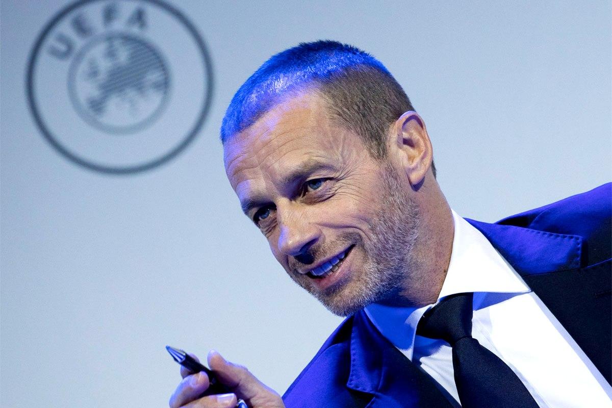 Ο πρόεδρος της UEFA, Aleksander Ceferin.