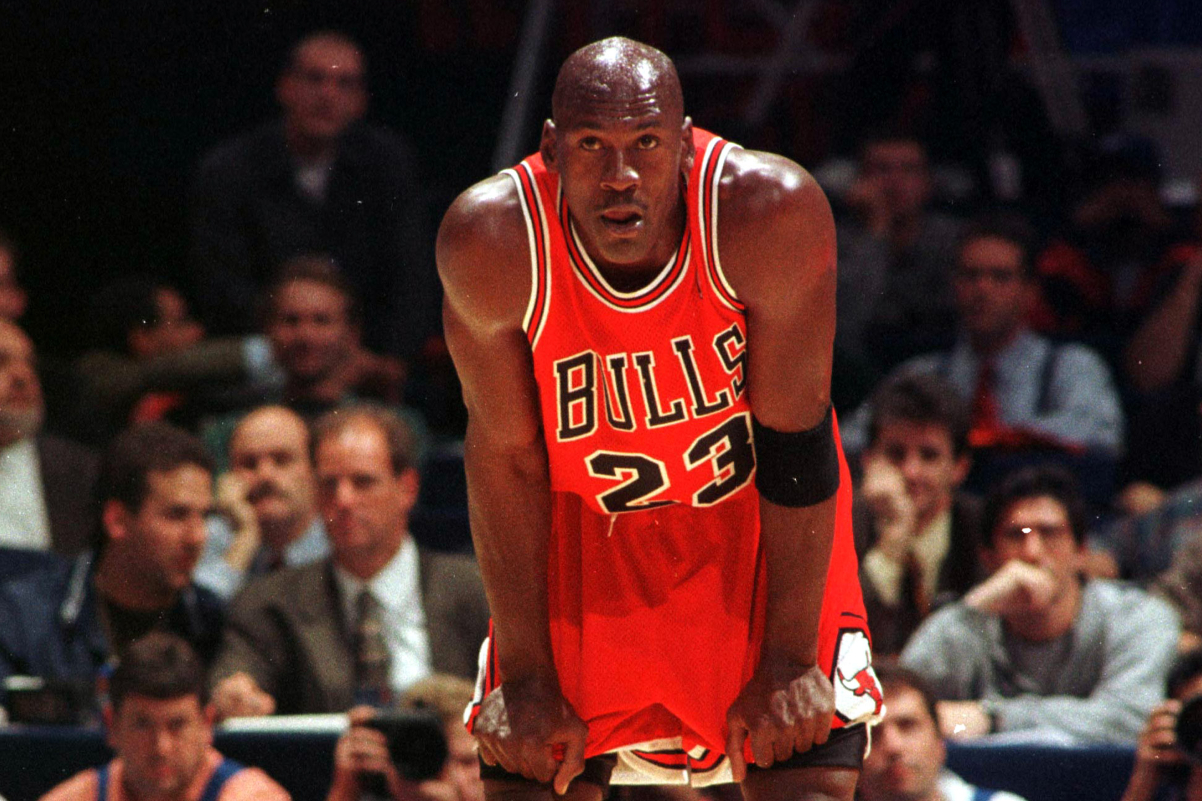 O Michael Jordan σε στιγμιότυπο από τη συμμετοχή του στο τουρνουά MacDonalds