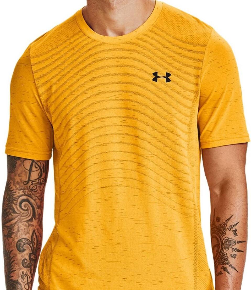Under Armour seamless wave logo t-shirt in orange