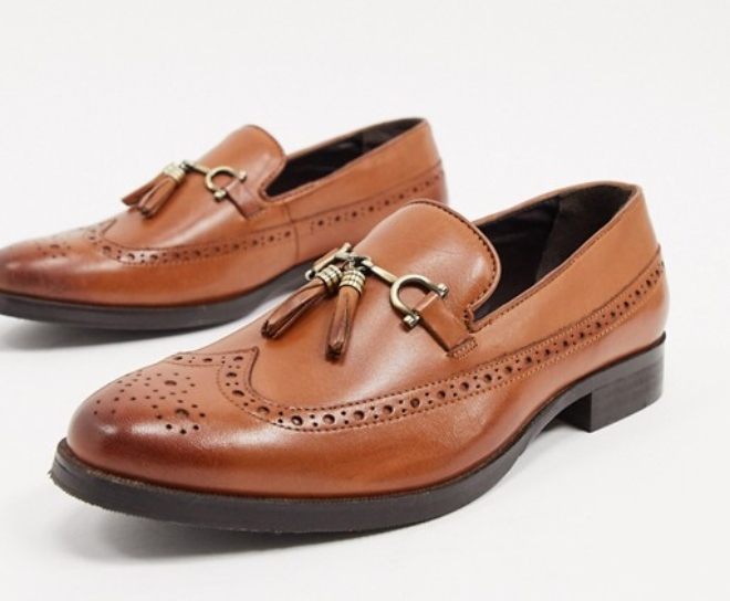 ASOS DESIGN brogue loafers
