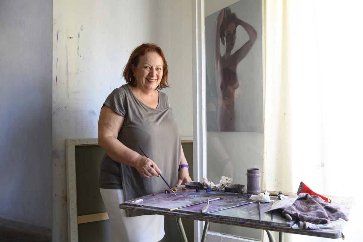 Καλλιρόη Μαρούδα, ζωγράφος. Αφιέρωμα στην Κυψέλη. Τετάρτη 2 Οκτωβρίου 2019. Φωτογραφίες: Oneman.gr / Φραντζέσκα Γιαϊτζόγλου – Watkinson