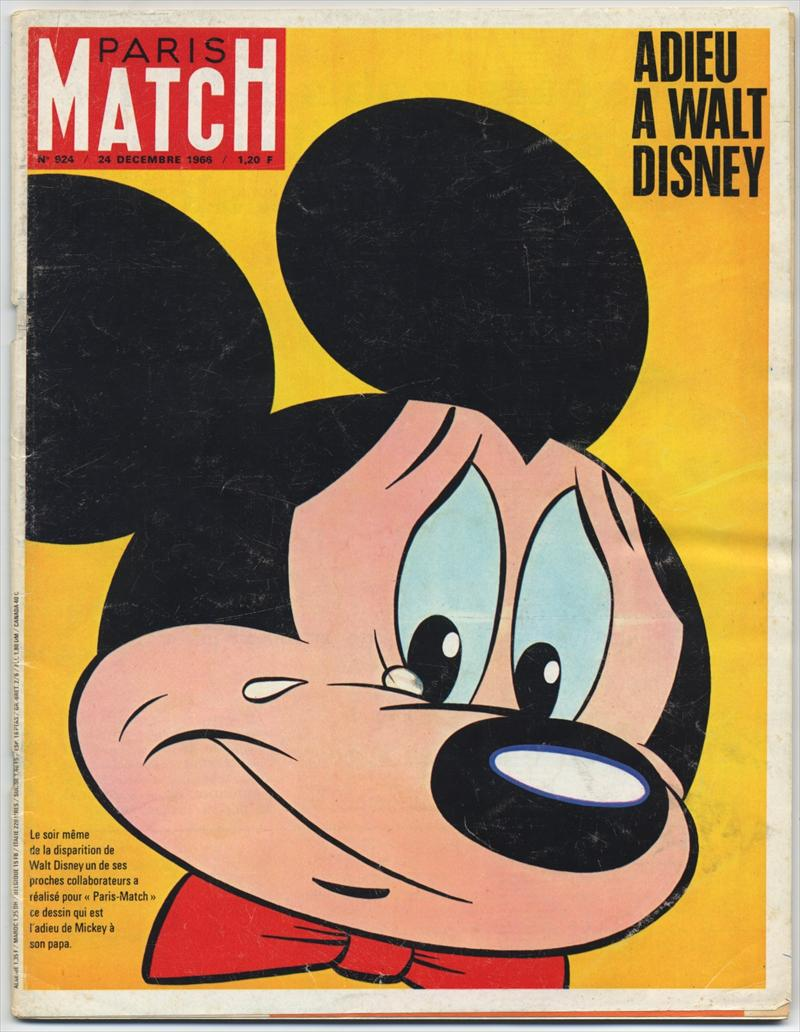Εξώφυλλο του Paris Match με τον Mickey Mouse
