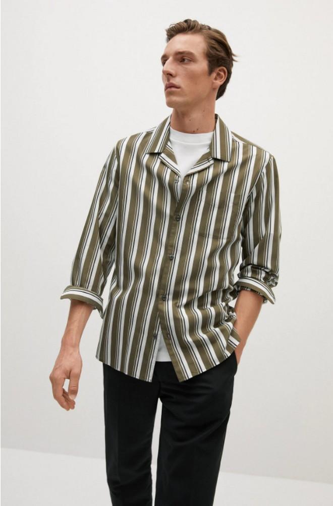 Ριγέ πουκάμισο από ανακυκλώσιμο υλικό