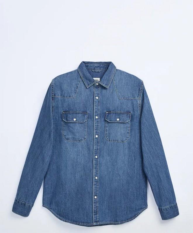 Τζιν πουκάμισο με τσέπες