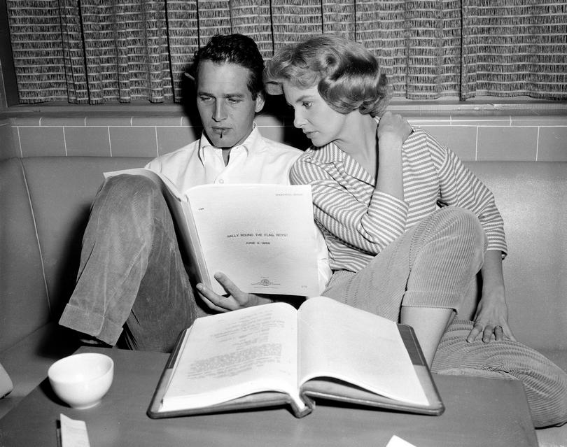 Ο Paul Newman με τη σύζυγό του