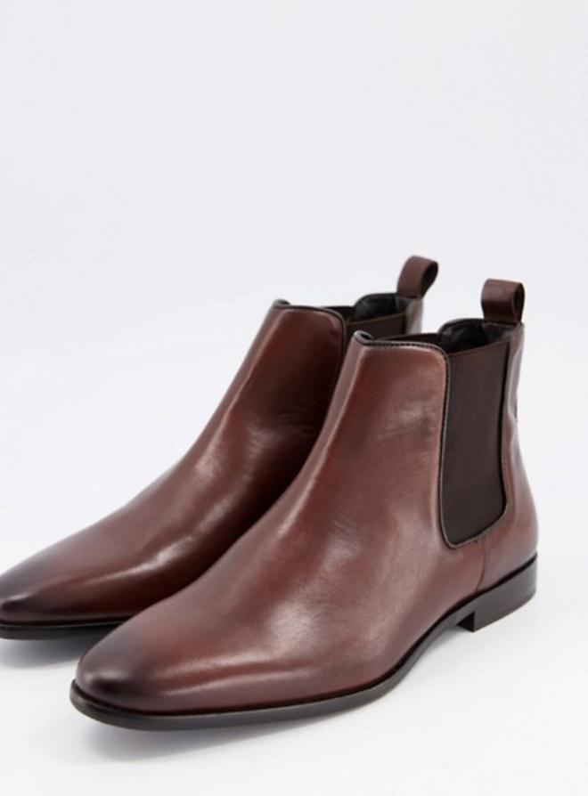 Walk London alfie chelsea boots in brown leather