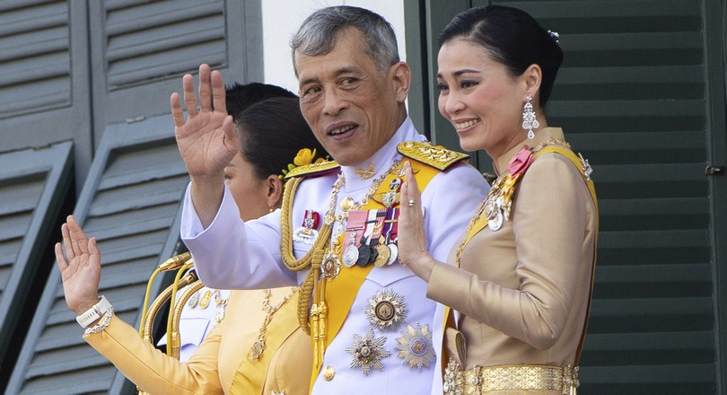 Ο βασιλιάς Maha Vajiralo ngkorn με την βασίλισσα Suthida