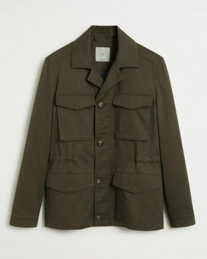 Shirt jacket από οικολογικό Lyocell βαμβάκι