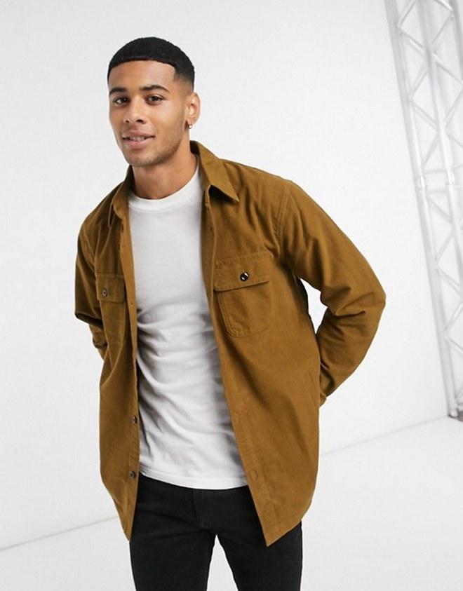 Shirt jacket με τσέπες