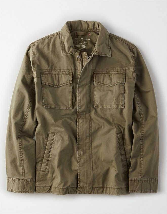 Shirt jacket τύπου military