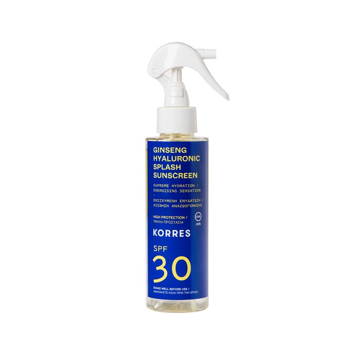 Korres Ginseng Hyaluronic Splash Sunscreen Spray SPF 30