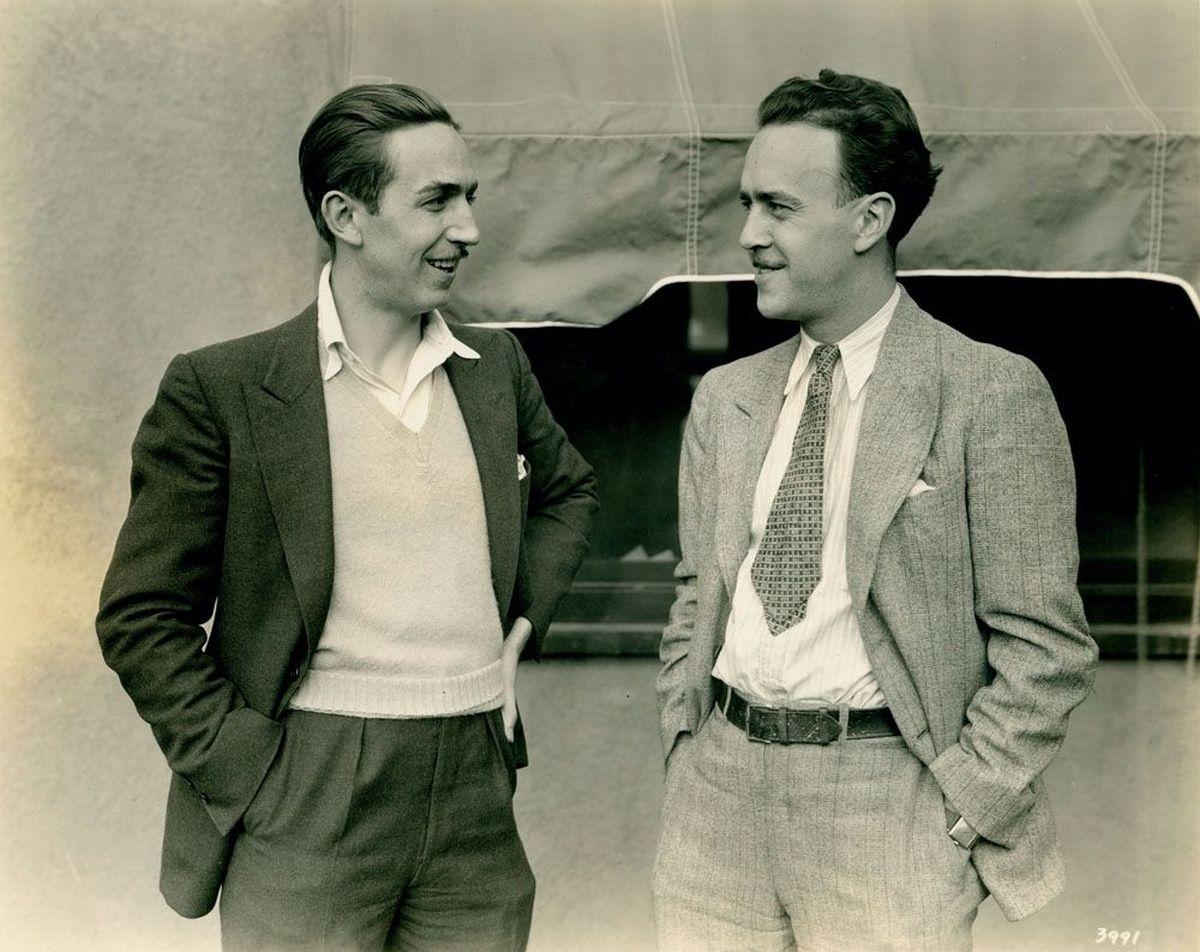 Ο Walt Disney με τον Ub Iwerks