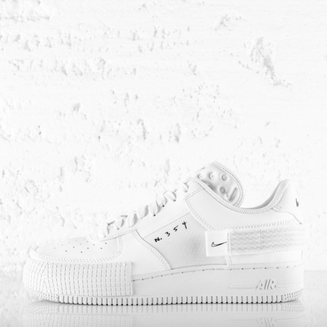 NIKE AIR FORCE 1 TYPE WHITE - Ministry Of Concrete